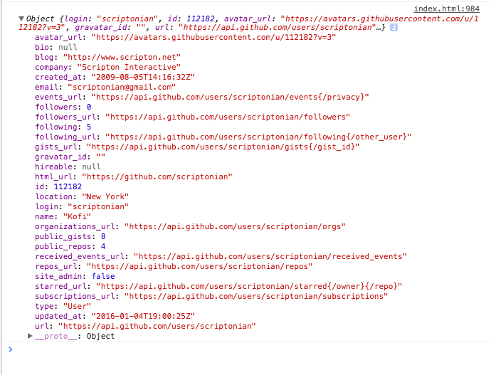 jquery how to write to console