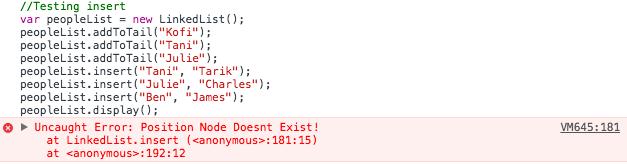 linked list invalid node